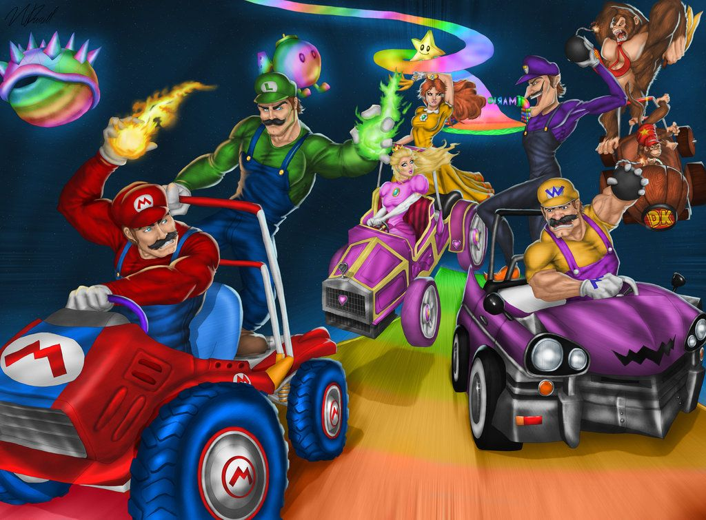 Mario Kart Double Dash Rainbow Road By Tycony23 Deviantart