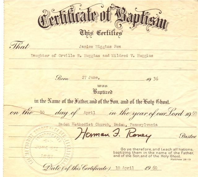 Example Of Baptismal Certificate  Tutorial Of Baptismal