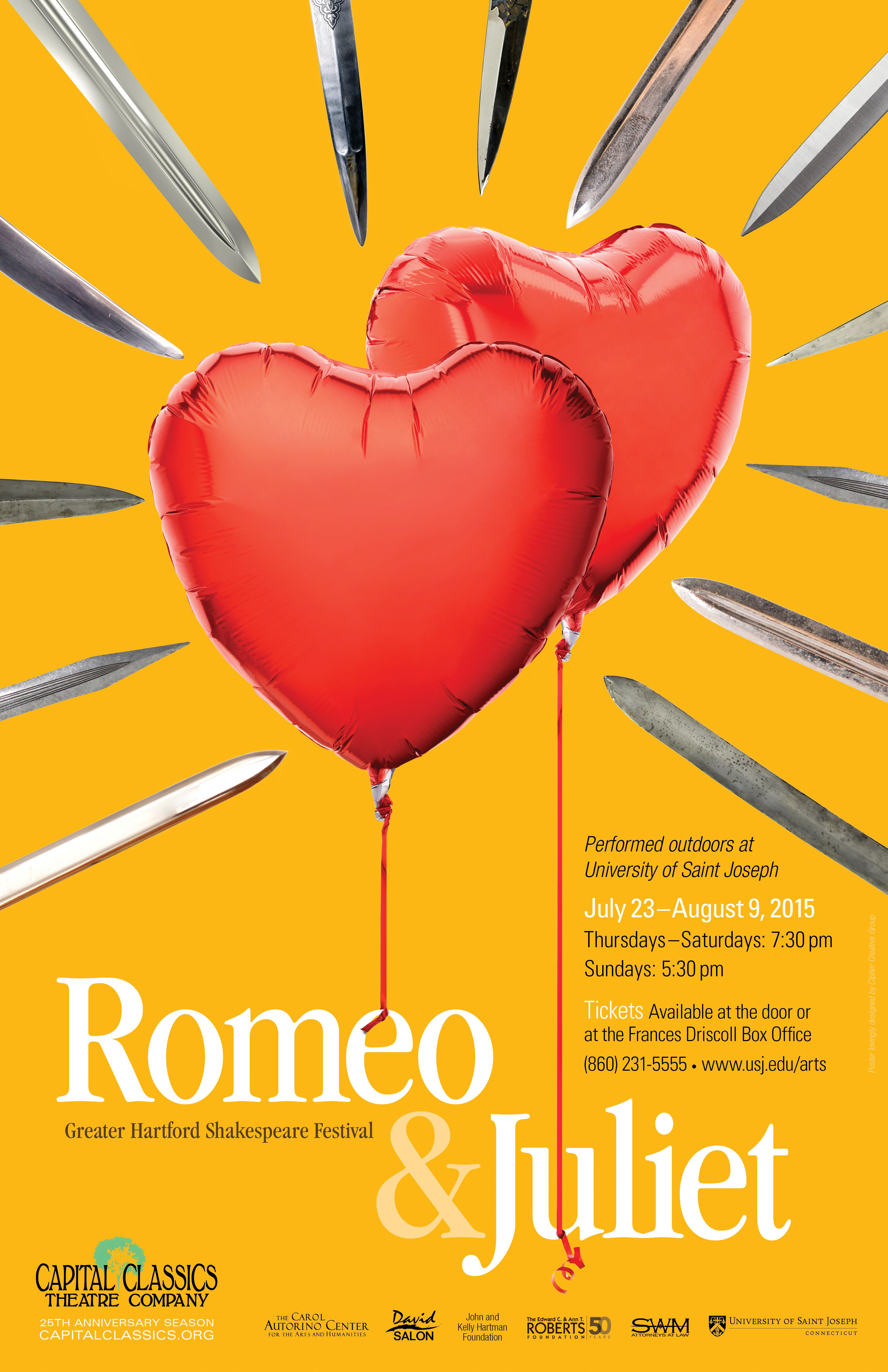 Capital Classics Shakespeare Festival Romeo Juliet Poster By Cipher Creative Group Romeo And Juliet Poster Romeo And Juliet Shakespeare
