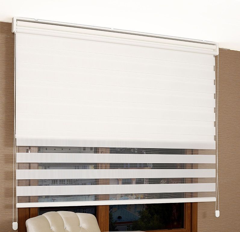 New Day Night Double Mechanism Roller Window Zebra Blind 2 In 1 Shade Panel Blinds Zebra Blinds Curtains With Blinds