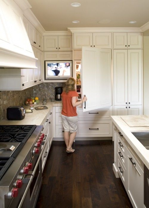 Television Addicts Unite Kitchen Ideas Tv In Kitchen