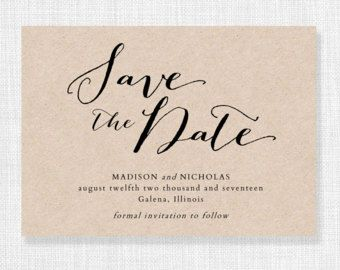 Save the Date Template, Printable Save the Date Card, INSTANT ...