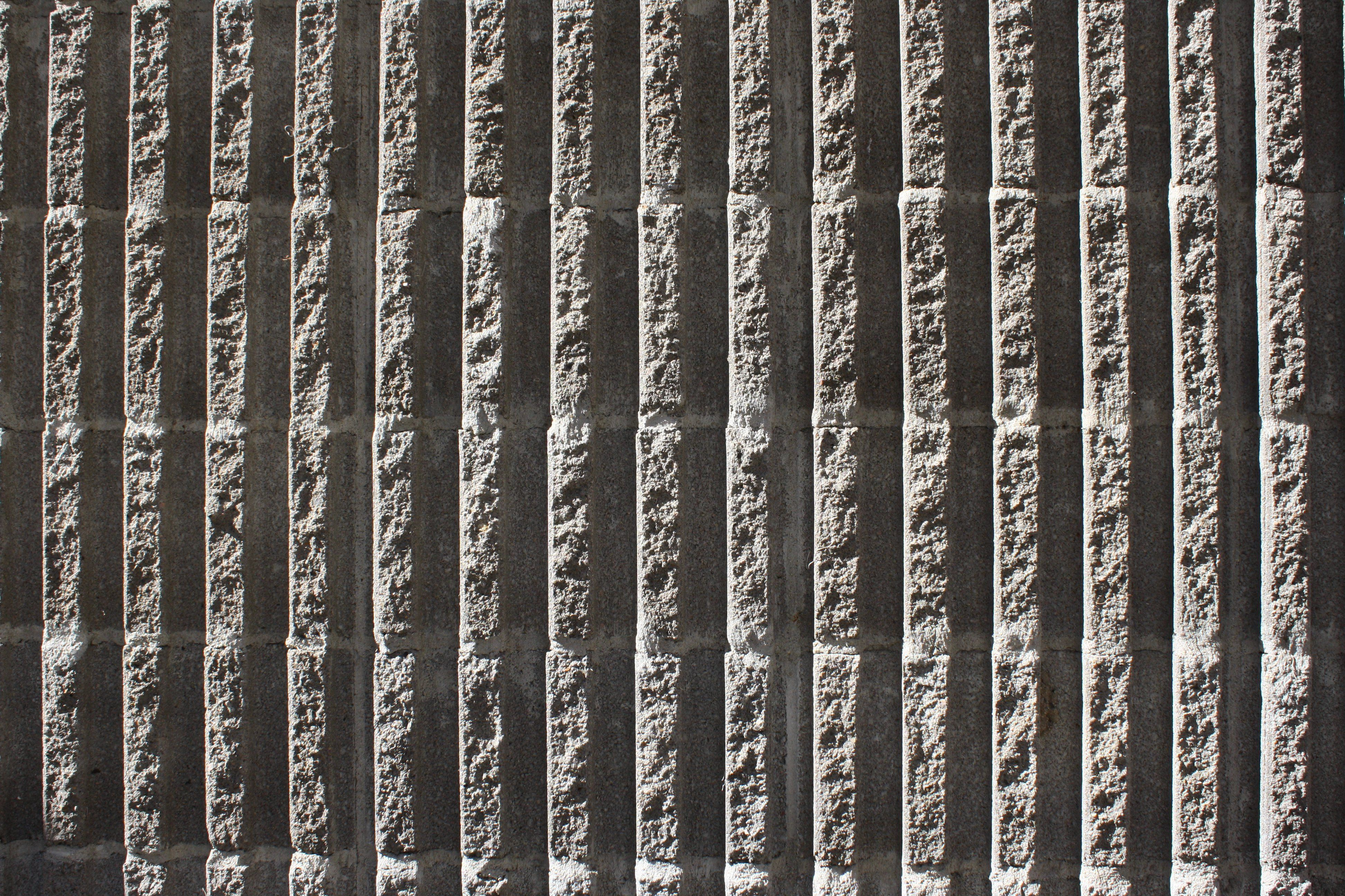 Fluted Concrete Block Wall Texture With Vertical Ridges Picture Free Photograph Concrete Block Walls Concrete Blocks Concrete Texture