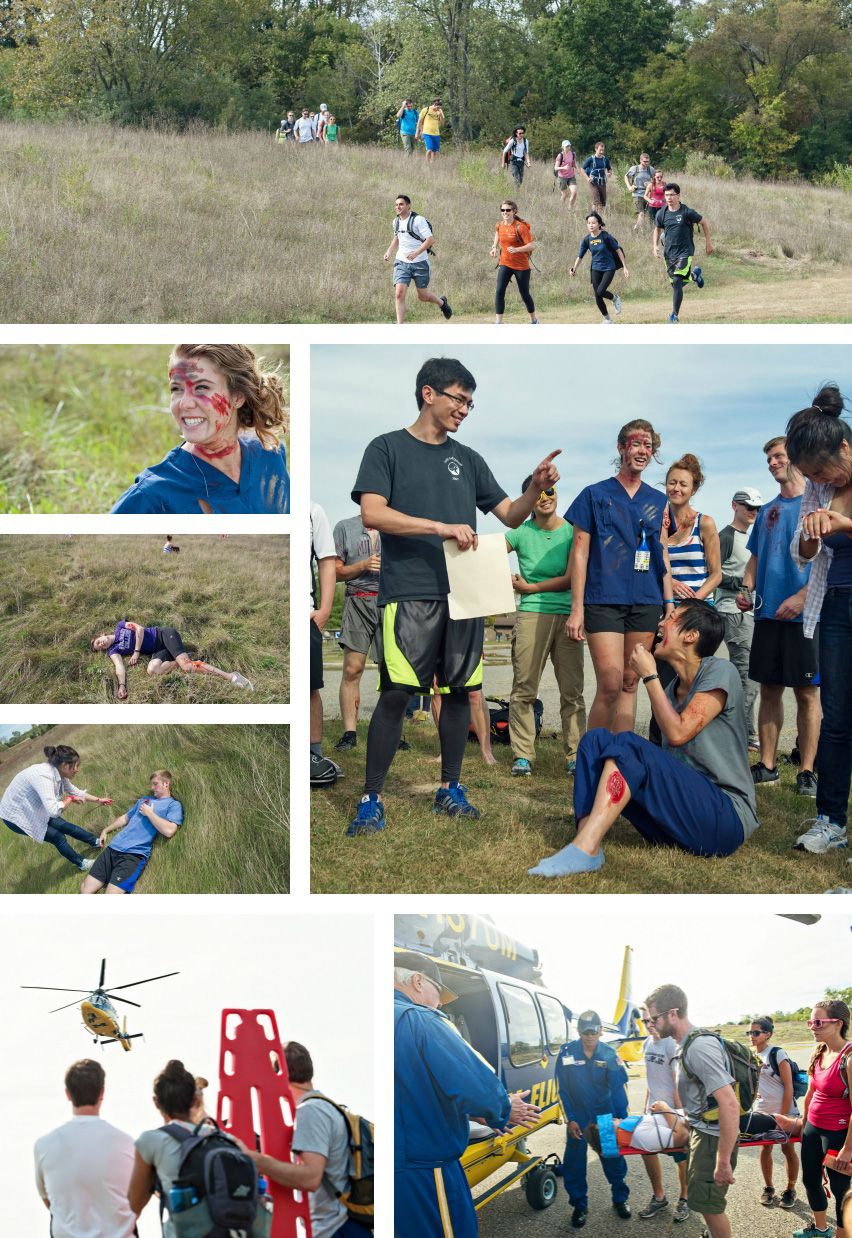 University of Michigan medical students on wilderness