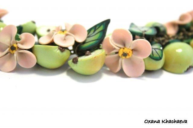 polymerclayfimo: Изделия - Яблоки в цвету