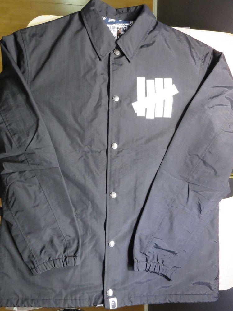 5182cfa4a BAPE x UNDEFEATED Coach Jacket XL #BAPE #VarsityBaseball | ebay ...