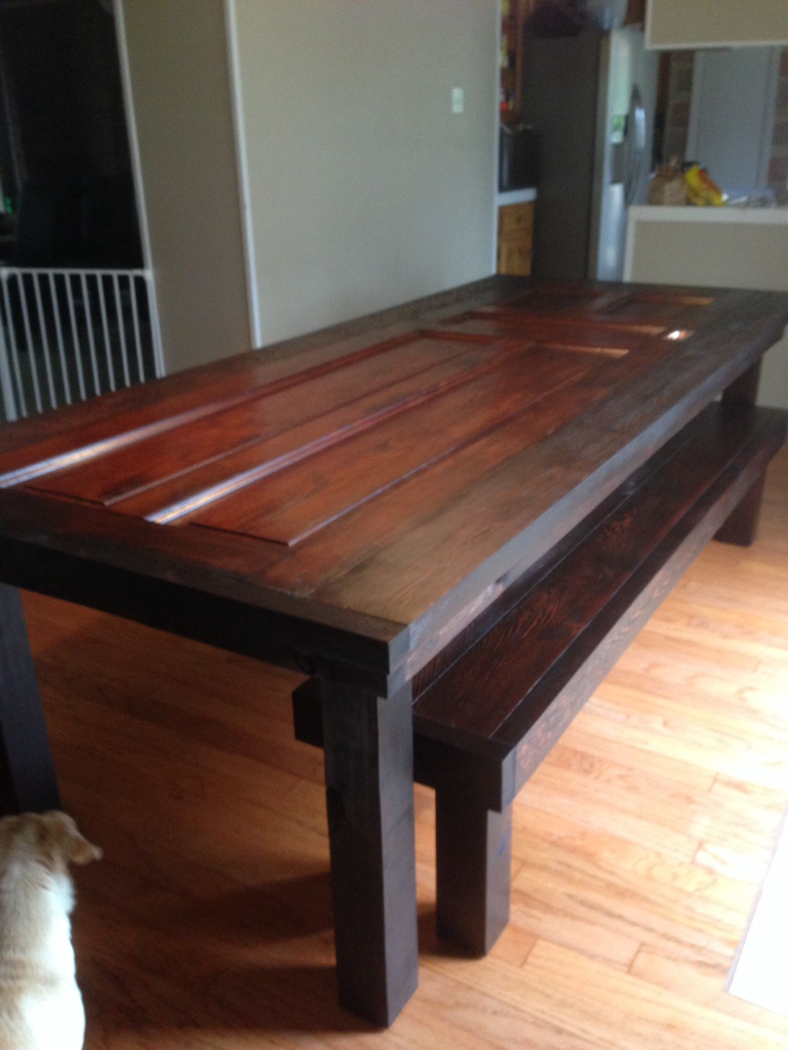 Table Made Out Of Old Door