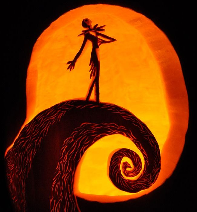 Disney pumpkin carving patterns jack skellington fall