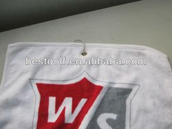 Golf Towel  Golf Towel for golf club,ball,bag etc.  soft towel  logo: print or embroidery