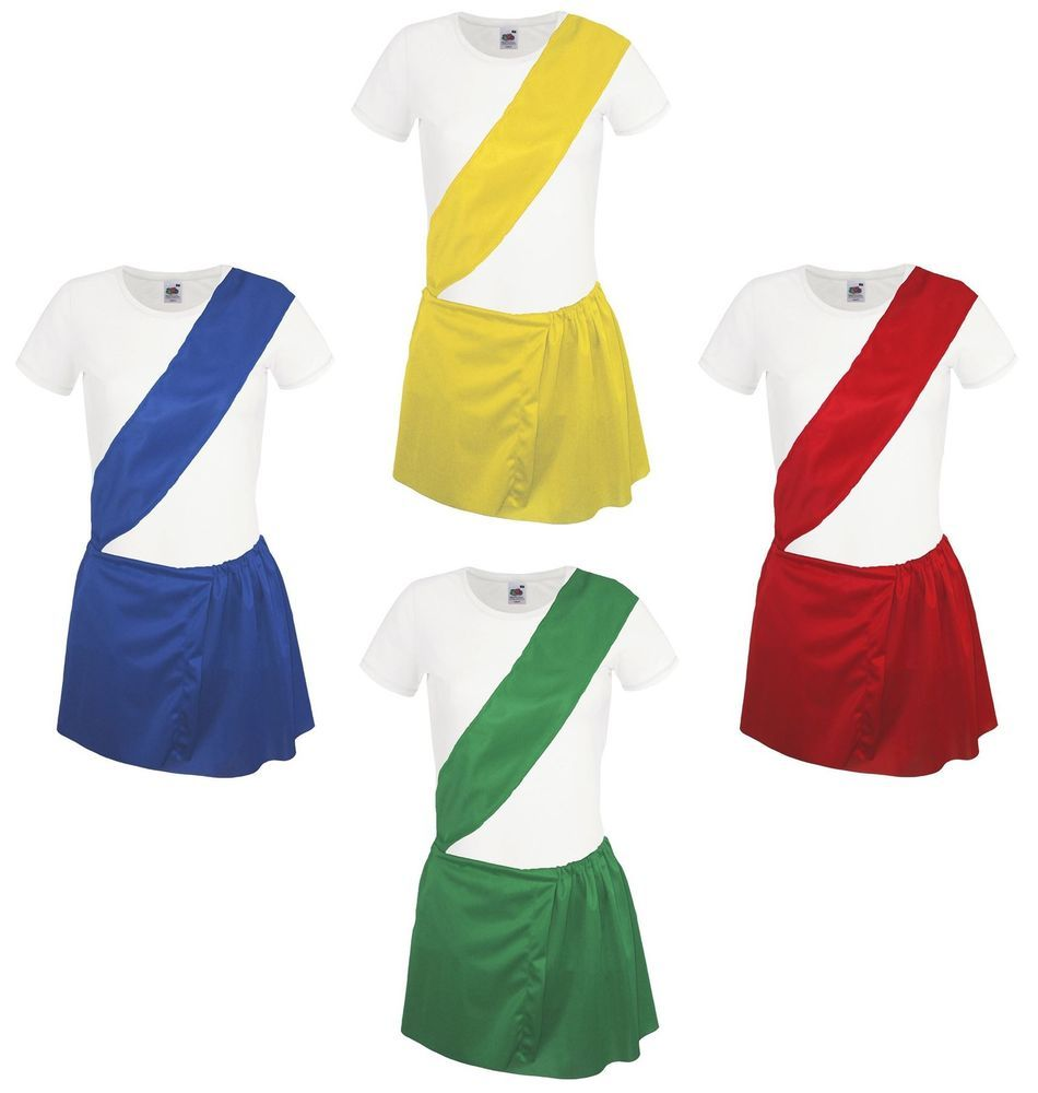 Ladies School Sports Day PE Kit Young Farmers Fancy Dress YFC Costume