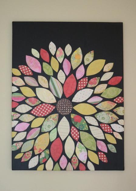 DIY Home Decor Wall Art Scrapbook Paper Flower
