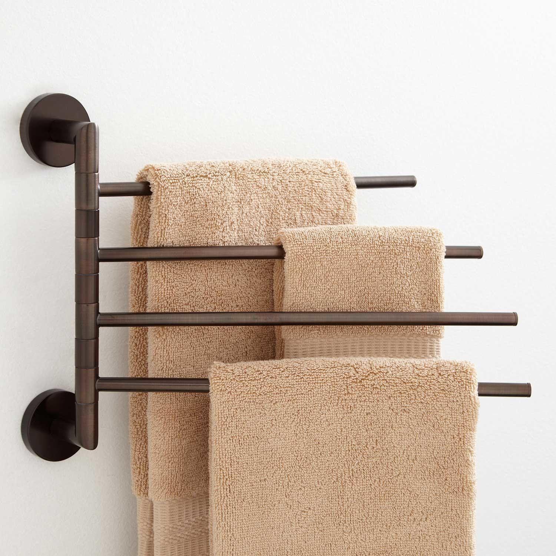 Colvin Quadruple Swing Arm Towel Bar Towel Holders Bathroom Accessories Bathroom By T Towel Holder Bathroom Towel Hangers For Bathroom Bathroom Towel Bar