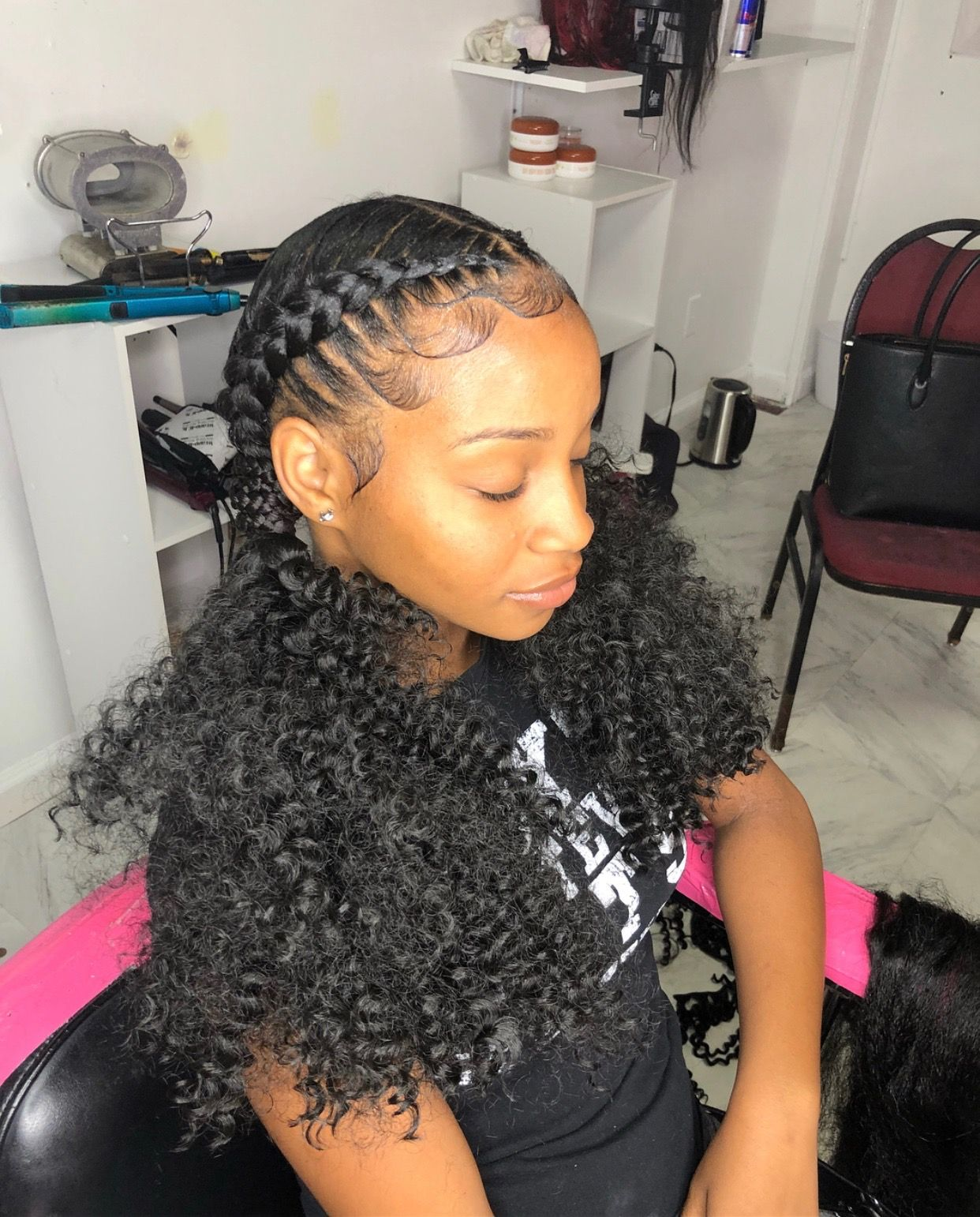 Follow Tropic M For More In 2019 Braids Curly Hair