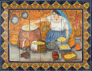 Backsplash talavera tile mural kitchens pinterest for Mural mexicano