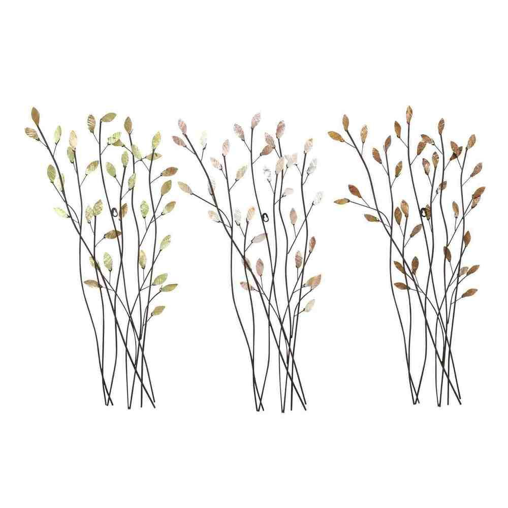Assorted Twig Shape Metal Wall Decor (Set of 3) - hang horizontally altering direction