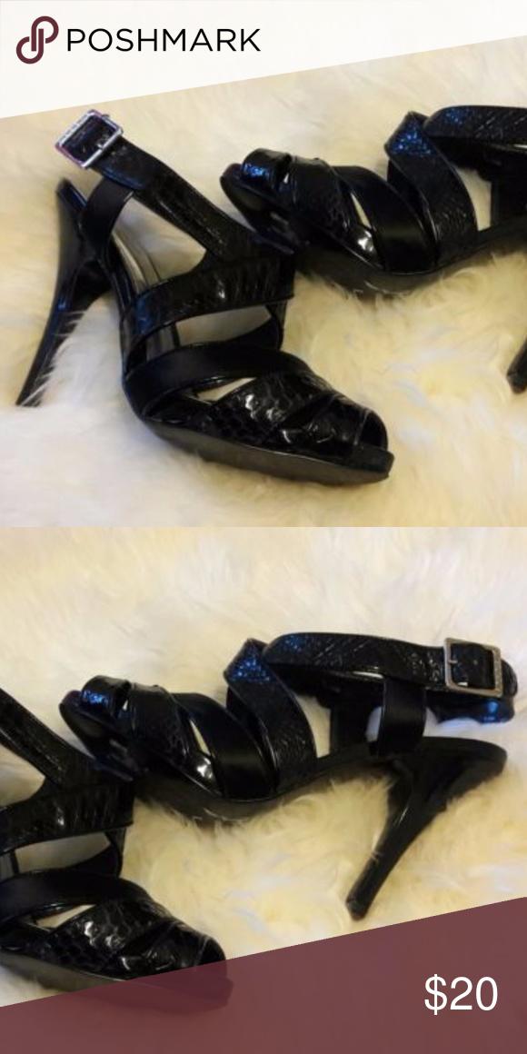 933d661bbc85e BCBG GIRLS Size 6 1/2 Strappy Python Stiletto Heel BCBG GIRLS Size 6 ...
