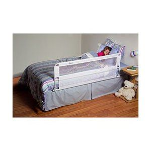 Protectected On One Side By The Rail But The Bed Is Away From The Wall On The Other Side Extra Long Bed Portable