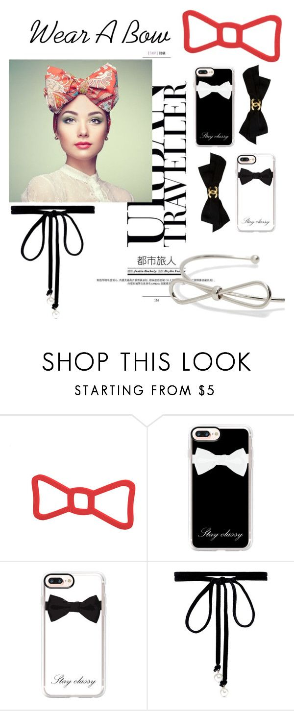 """""""Wear A Bow"""" by mystic-punk ❤ liked on Polyvore featuring Casetify, Joomi Lim and Chanel"""