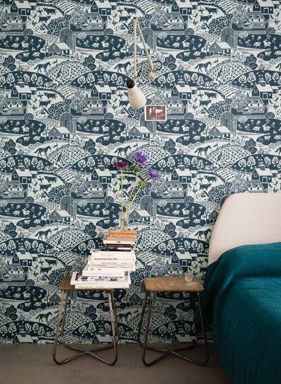 40er Jahre Tapete Gable von Farrow \ Ball 2646 Farrow ball - tapete für schlafzimmer