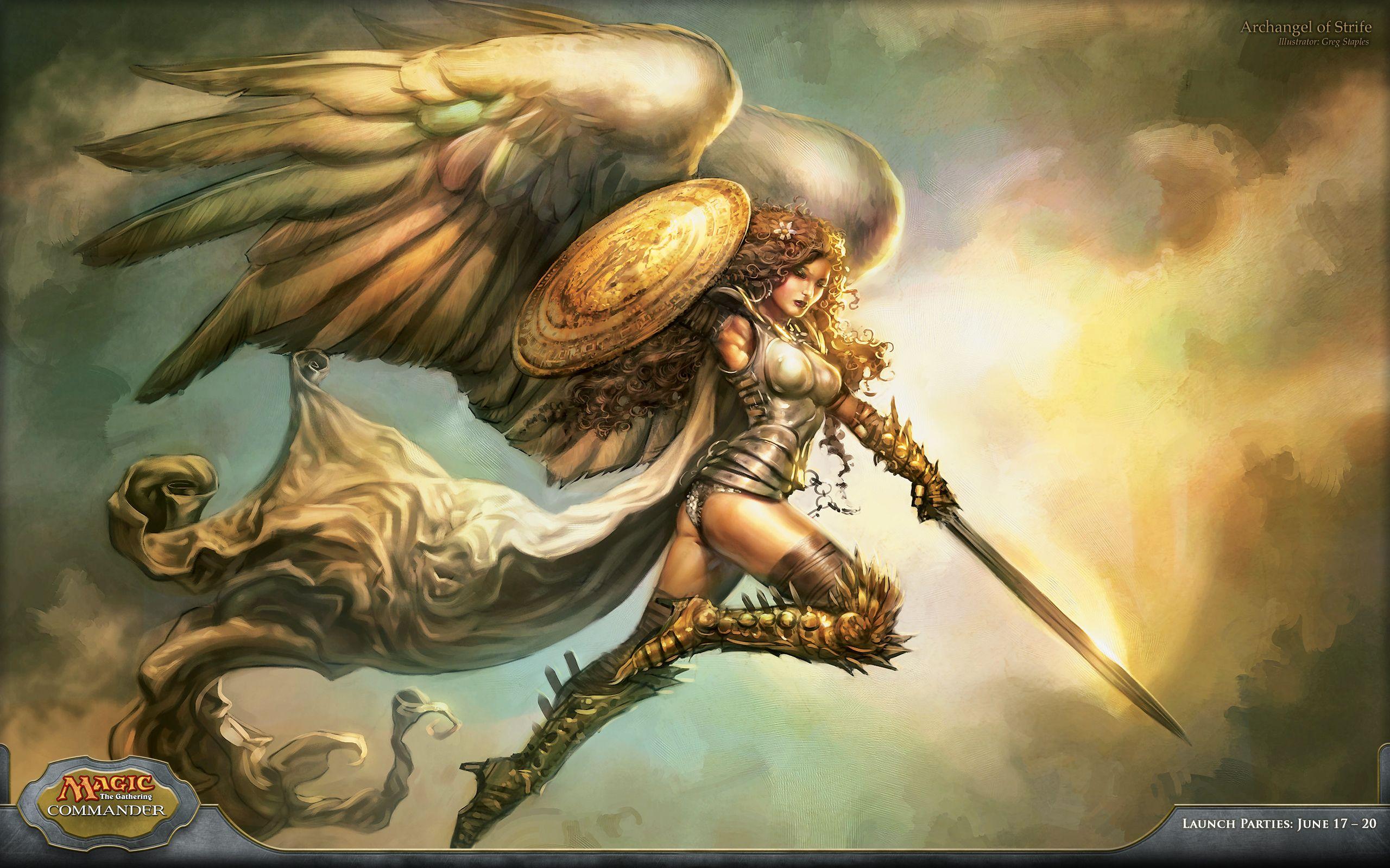 Mtg Angel Art Archangel Of Strife Archange Art A Theme Ange