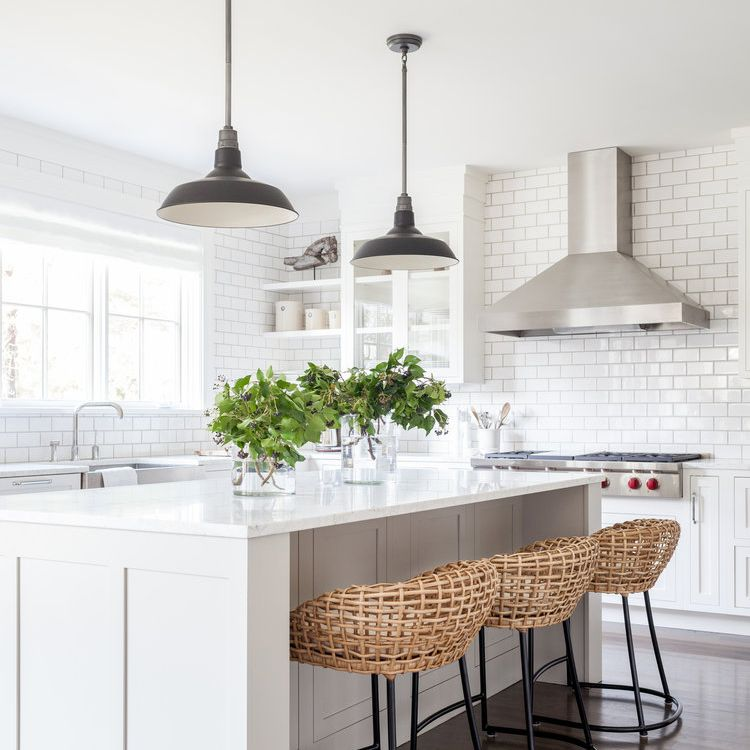 Peel And Stick Wallpaper Easy To Use Always Removable Nuwallpaper Interior Design Kitchen Small Beautiful Kitchens Farmhouse Kitchen Decor