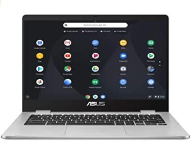 ASUS Chromebook C423NABV0044 Ordinateur Portable 14'' HD (Pentium N4200, RAM 8Go, 64Go EMMC, Chrome OS) Clavier AZERTY Français