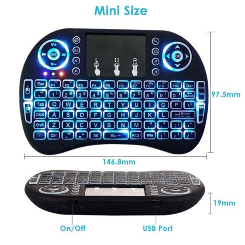 b23aac4cbcf5 Buy Mini Wireless Remote  Keyboard  Mouse for  Samsung  LG Smart  TV  Android  Kodi TV Box only on  A2ZSmartshop.