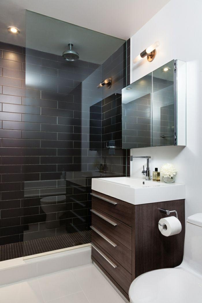Wandgestaltung Bad   35 Ideen Für Badezimmergestaltung Mit Fliesen | Metro  Fliesen, Badezimmerfliesen Und Wandleuchten