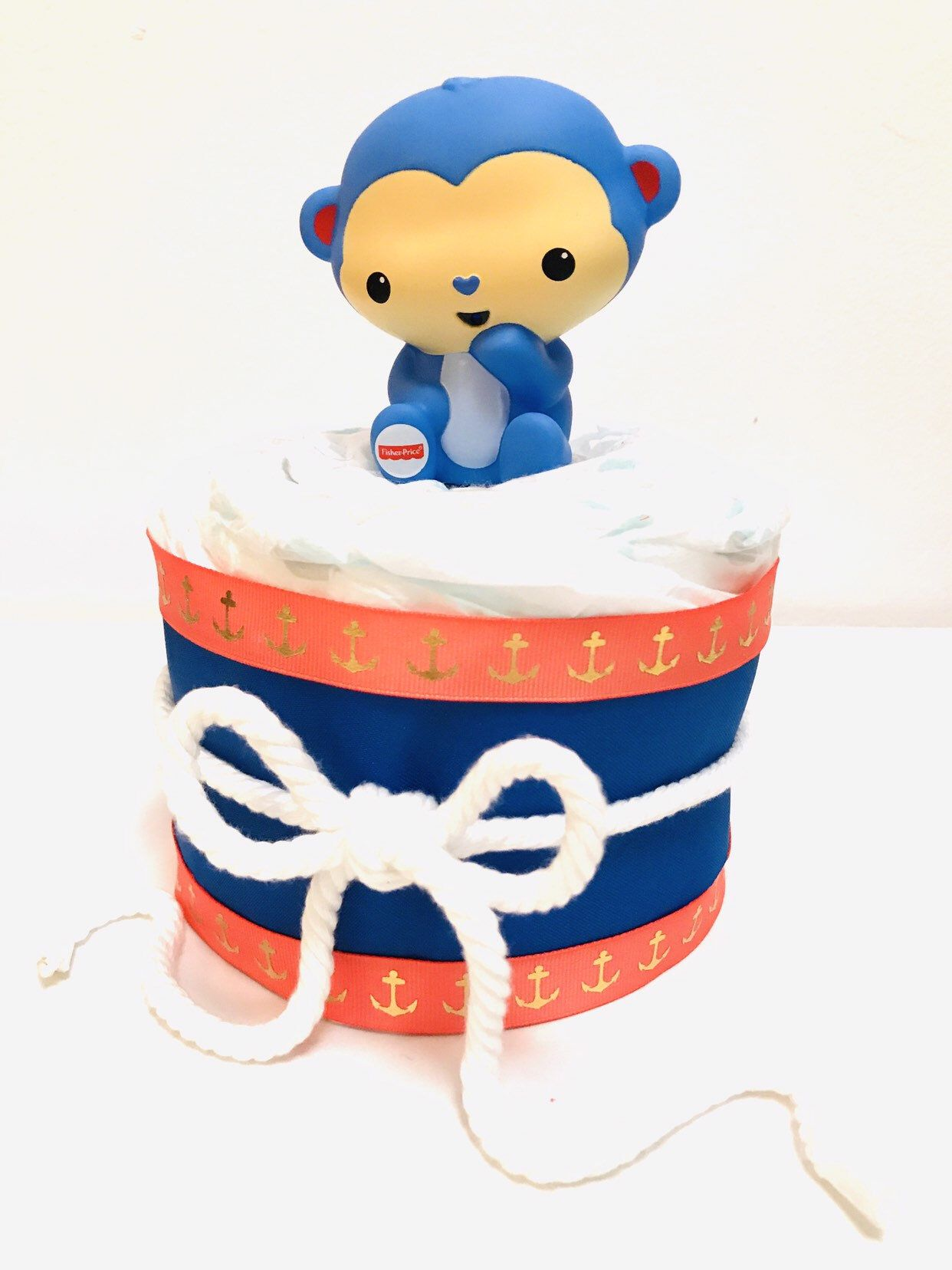 Monkey Diaper Cake (With images) Monkey diaper cakes