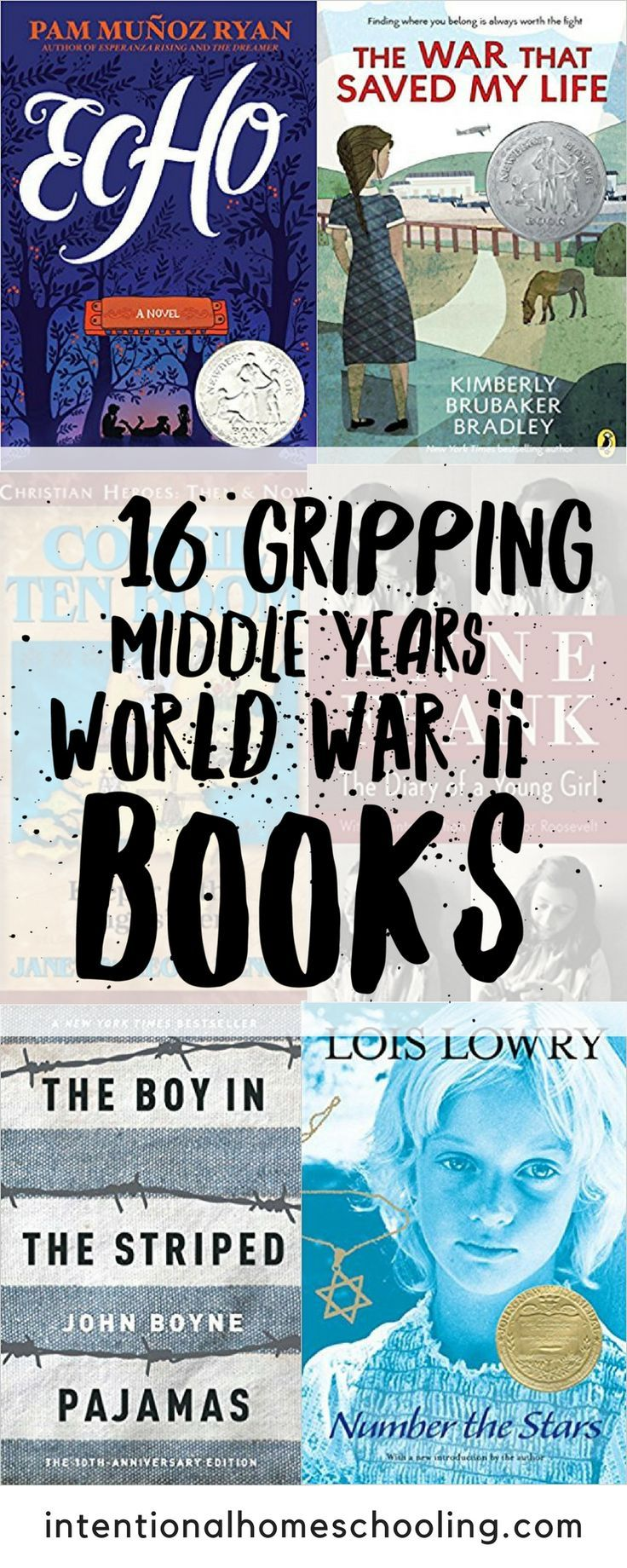 16 Gripping World War II Books for the Middle Years (Grades 48 is part of Middle school books, Holocaust books, Middle grade books, World war ii, Homeschool middle school, Middle school reading - I have been on a big World War II reading kick in my own life lately  History never interested me when I was younger but these days it seems like I can't