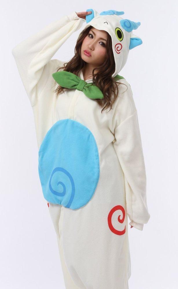New Yo-Kai Watch Komasan Kigurumi Plush Pajamas Cosplay Yokai Japan anime