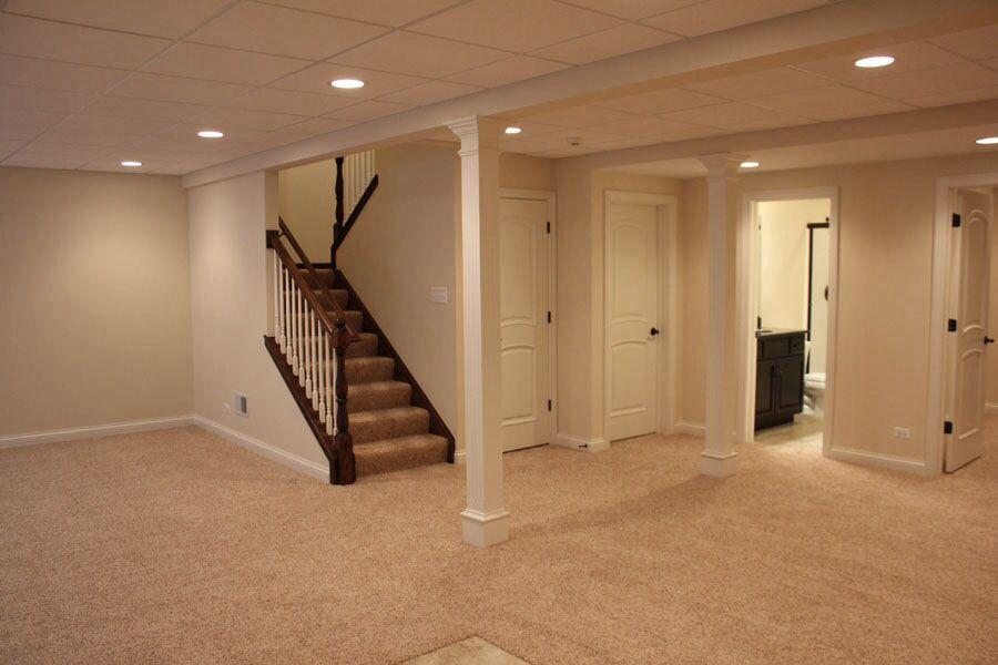 Down Basement Stairs Lighting: Basement (drk Hardware, Painted Stairs, Light Walls