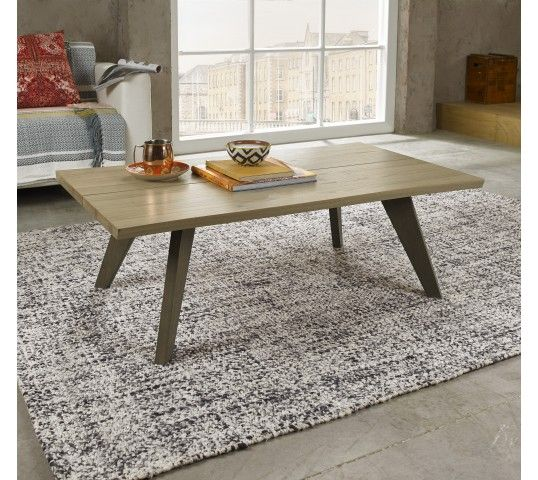 The Cadell Aged & Weathered Oak Coffee Table, with its organic lines and finely tapered legs, will blend in perfectly into any modern living and dining space. With sleek weathered oak legs and contrasting knotty aged oak top, this coffee table is the epitome of retro-inspired design and modern elegance.