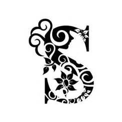 Black And White Letter S Bing Images Calligraphy Clip Art