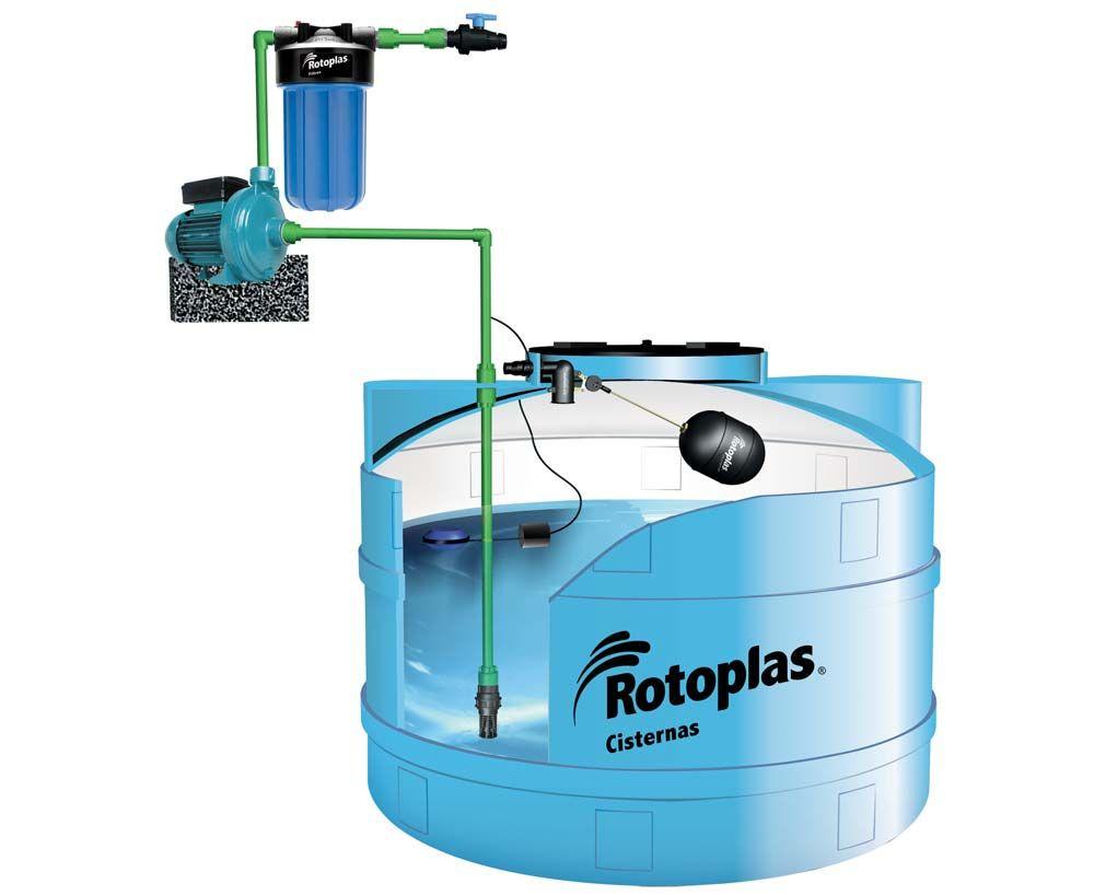 cisterna para almacenamiento de agua rotoplas