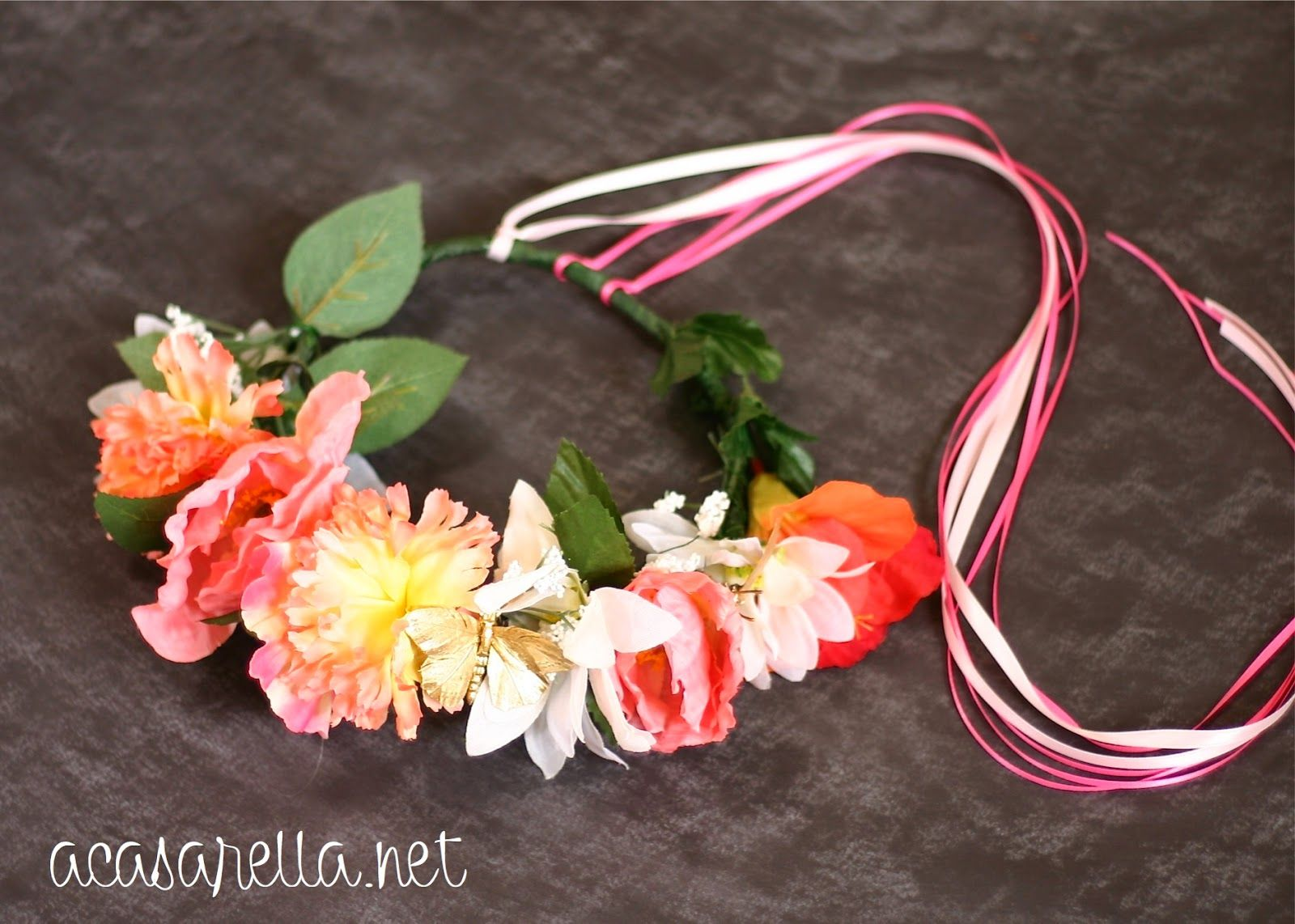 This diy flower crown was made with dollar store flowers it would this diy flower crown was made with dollar store flowers it would be great for izmirmasajfo