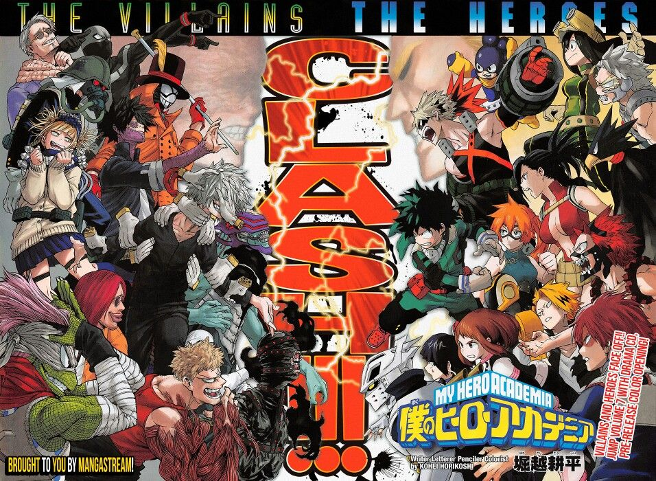 Villains Vs Heroes My Hero Academia Color Page My Hero My Hero Academia Boku No Hero Academia