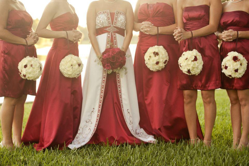 Bridesmaids Bouquet Kissing Balls Bridal Bouqet Bridesmaid