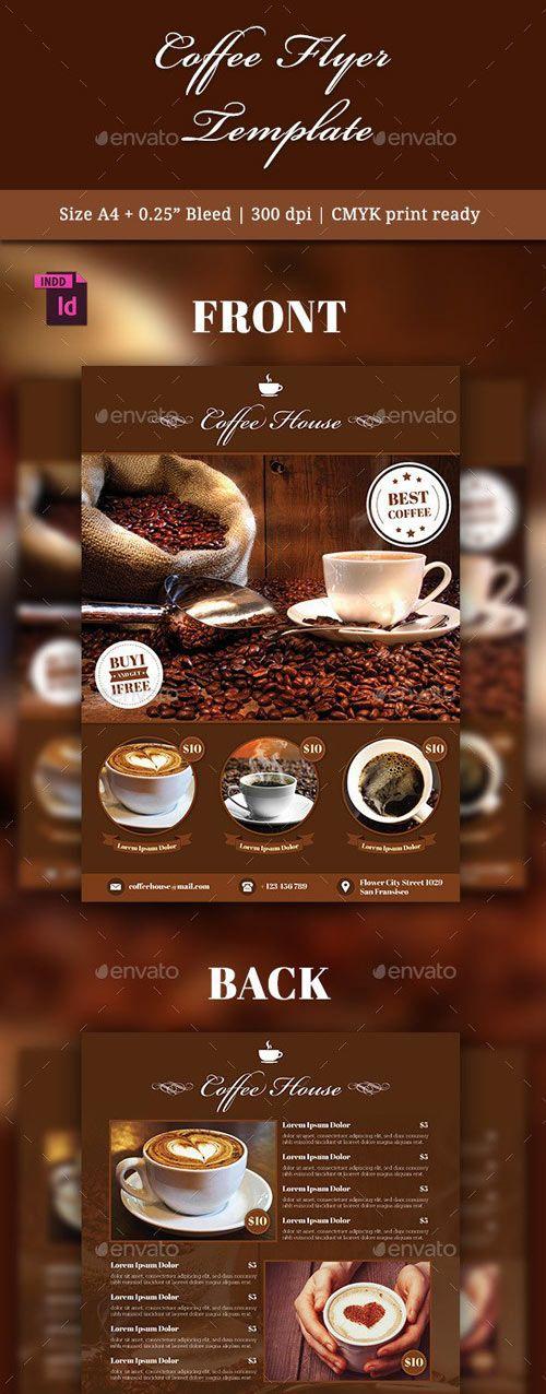 Coffee Flyer Template Psd Templates Pinterest Flyer Template