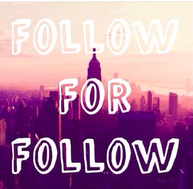 I always follow back(;