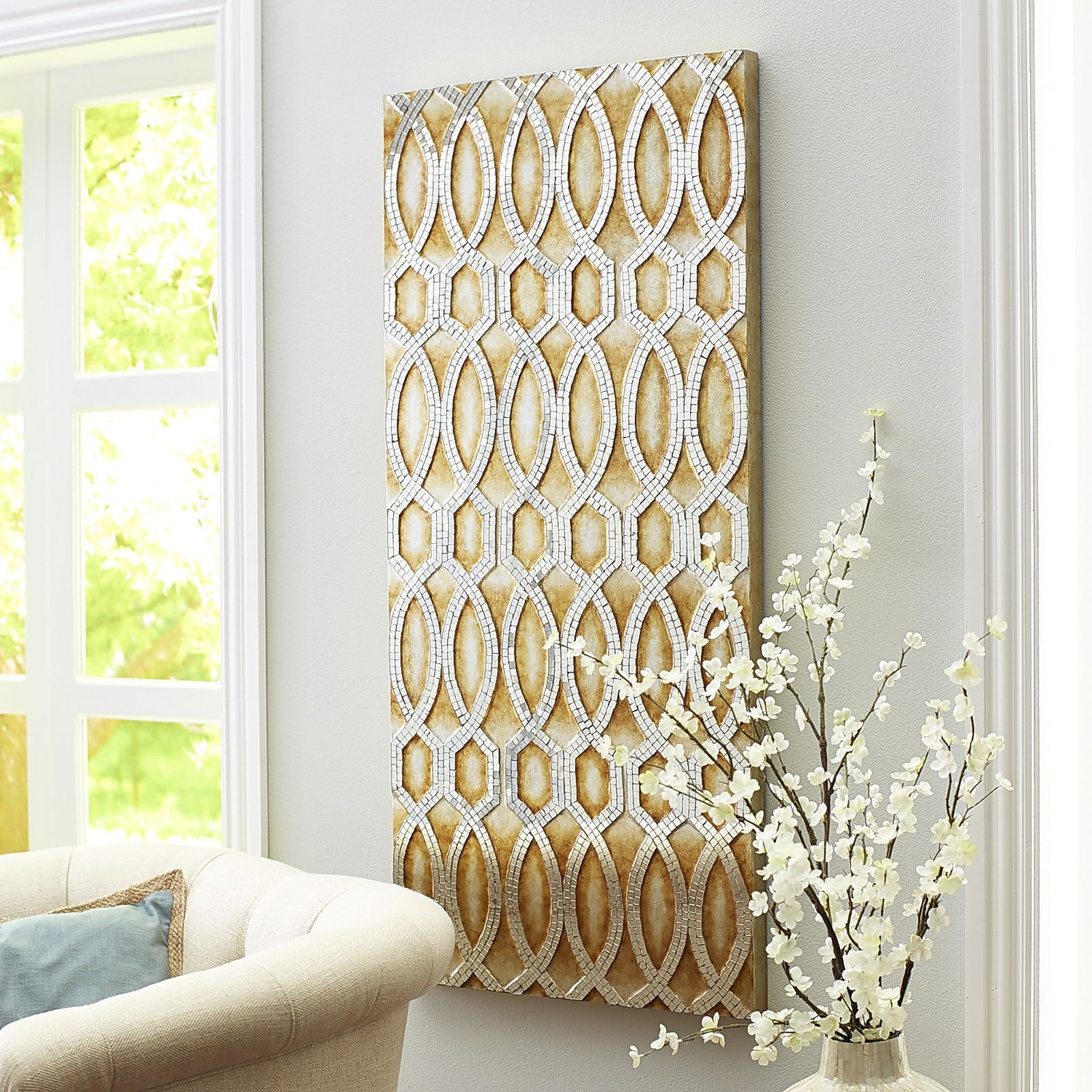 Pesci Geometric Mosaic Panel - Champagne | Pier 1 Imports | Ideas ...