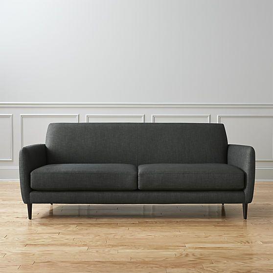 """78"""" High, $1400 Parlour Sofa - Carbon"""