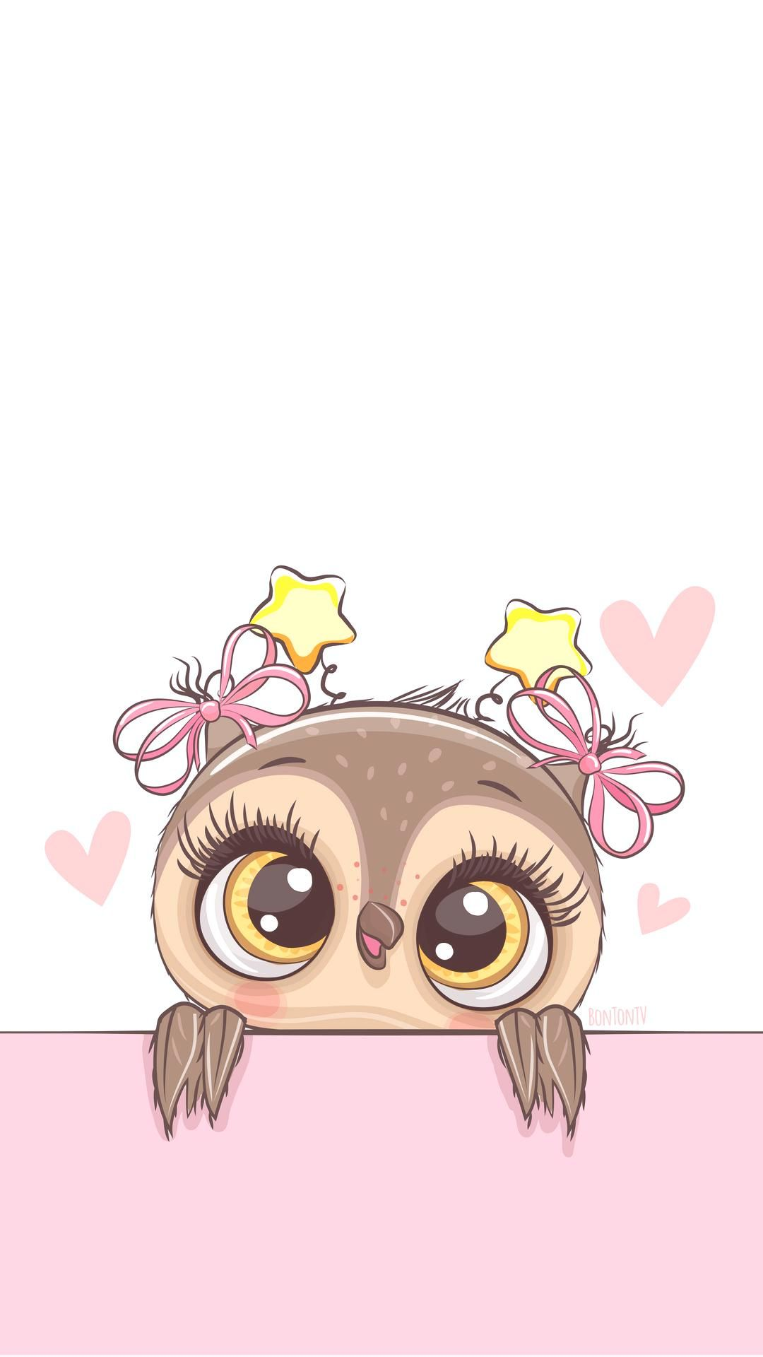 Phone Wallpapers HD Cute Owl  by BonTon TV  Free Backgrounds 1080x1920 wallpapers iPhone smartphone Here you can find a collection of elegant cute and girly colorful glit...