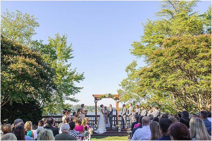 Annapolis Waterfront Wedding Ceremony. London Town And Gardens Wedding  Ceremony. Outdoor Maryland Wedding Ceremony