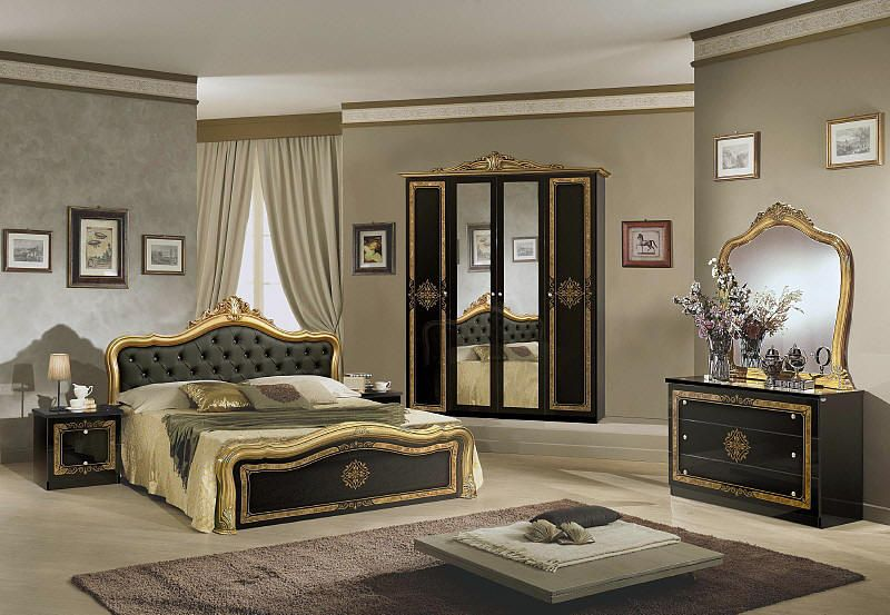 Luisa bedroom furniture gold and black Bedroom Pinterest - Italian Bedroom Sets