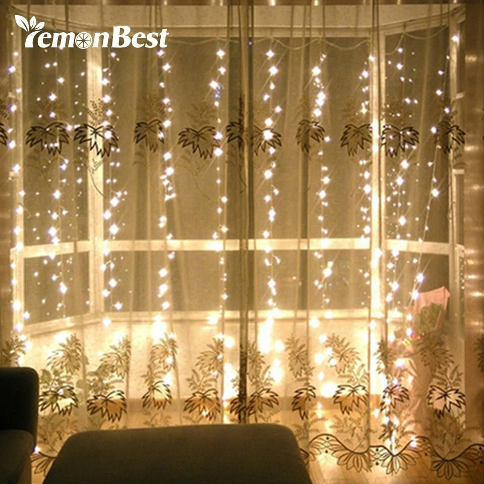300LED Curtain Lamp Fairy String Light Wedding Party In//Outdoor Decor Christmas