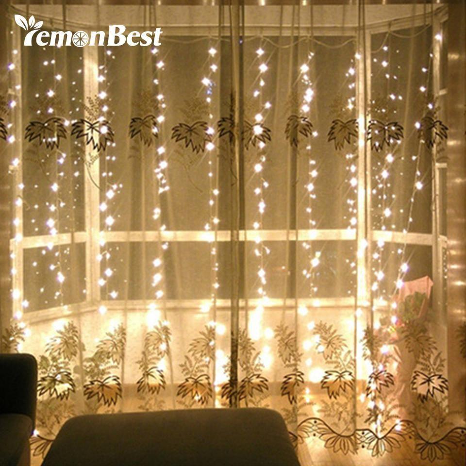 3 3m 300 led curtain light fairy