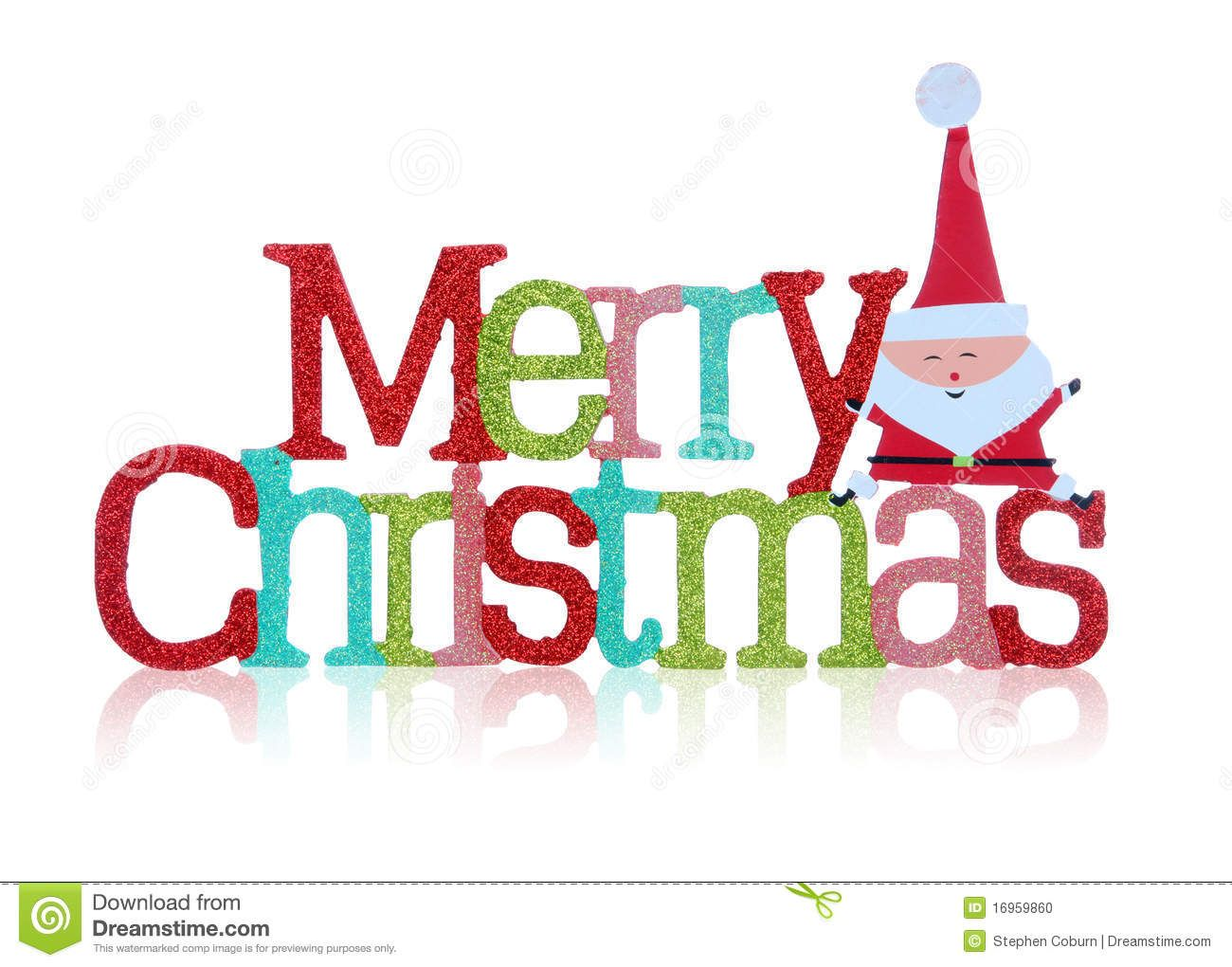 Colorful merry christmas sign over white background for Merry christmas bilder