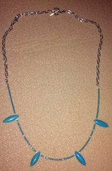 Turquoise and seed bead necklace by MirandaLadybugJewels on Etsy, $18.00