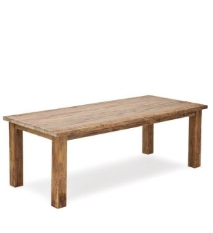 recycled teak-wood table
